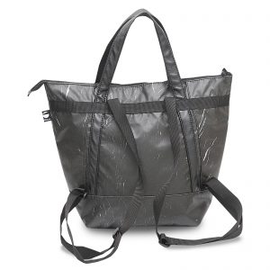 Black Re-marble Backpack & handbag